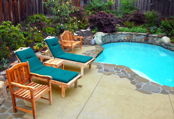 Small Yard Redesign traditional-pool