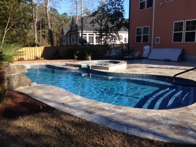 Sneads Ferry North Carolina Pool And Hot Tub Combo