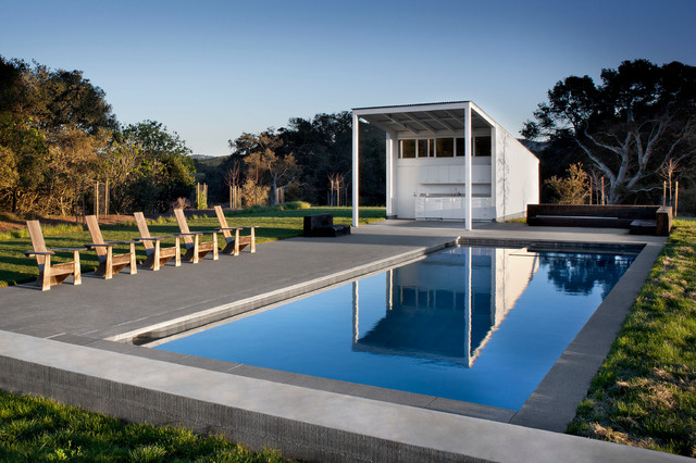 Sonoma county residence farmhouse pool for Farmhouse with swimming pool