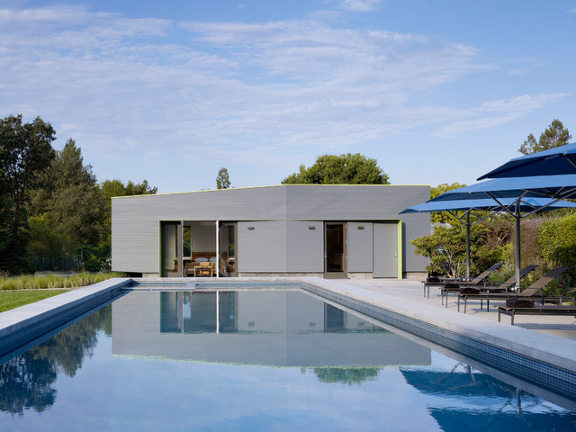 sonoma pool house contemporain piscine san francisco par schwartz and architecture. Black Bedroom Furniture Sets. Home Design Ideas