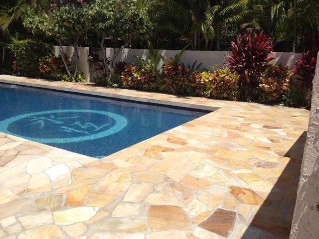 South maui house tropical pool hawaii by klc for Pool design hawaii