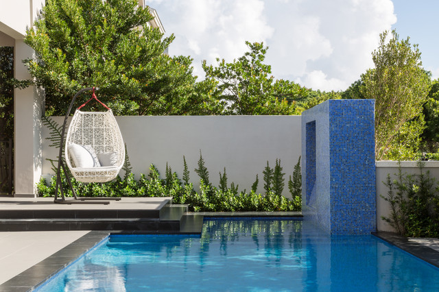 Contemporary Pool Miami South Miami Townhouse contemporary-pool