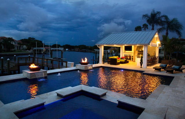 South Tampa Transitional Pool Tampa By Grand Vista