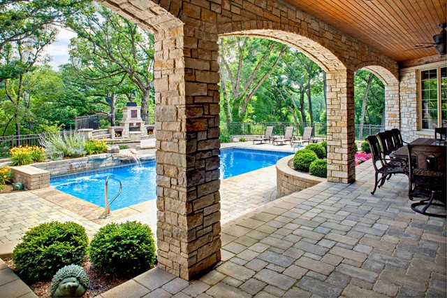 Southampton Builders- Luxury Custom Home in St. Charles Illinois traditional-pool