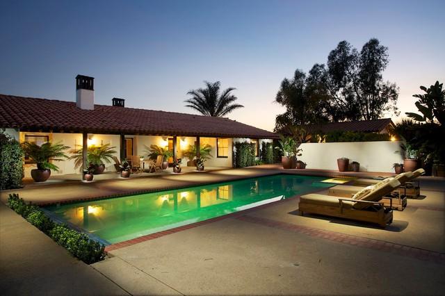 Southern California Homes Mediterranean Pool Los