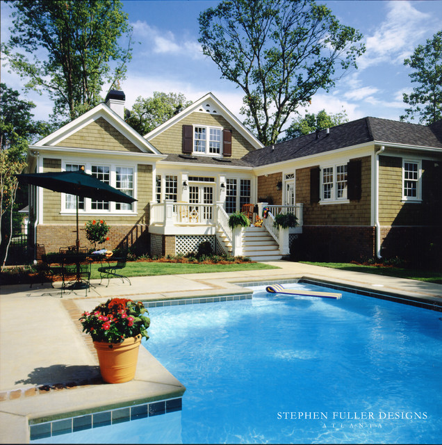 southern cottage traditional-pool
