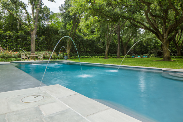 Southern Exposure Traditional Swimming Pool Hot Tub Houston By Waterline Designs