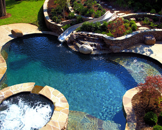 Natural Pool Designs natural pool Southwind Residence Natural Pool Outdoor Living Design Traditional Pool