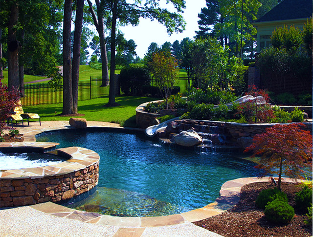Southwind Residence Natural Pool Outdoor Living Design