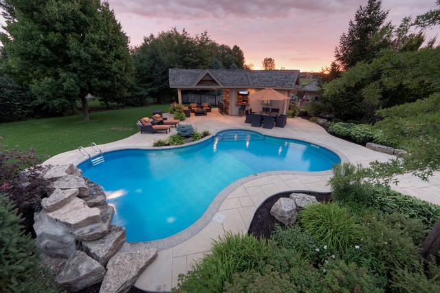 Spacious Outdoor Living Contemporary Pool Toronto