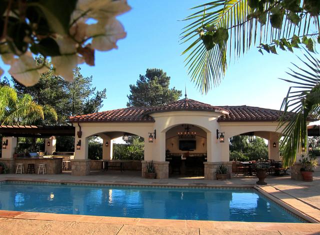Superb Spanish Colonial Revival Style Pool Cabana In Santa Barbara Interior Design Ideas Gentotryabchikinfo