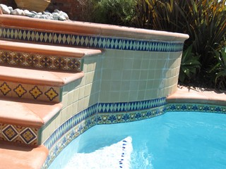 Spanish Deco Pool Mediterranean Swimming Hot Tub Orange County By Archarium Tile And Stone