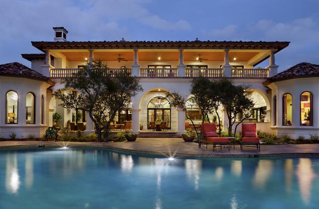 Spanish Oaks Hacienda Mediterranean Pool Austin By