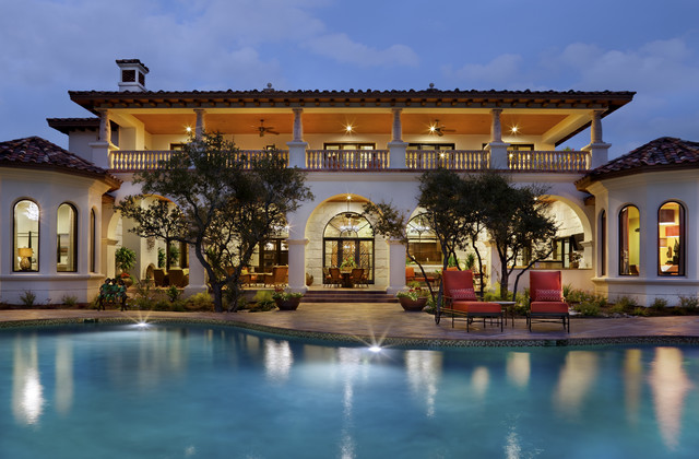 Spanish Oaks Hacienda Mediterranean Pool Austin By