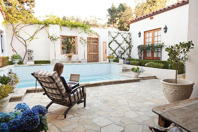 custom spanish style furniture. spanish style restoration home of gina quatrine mediterraneanpool custom furniture i