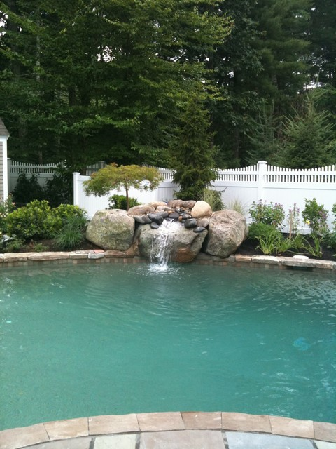 Special features eclectic swimming pool hot tub for Allied gardens swimming pool