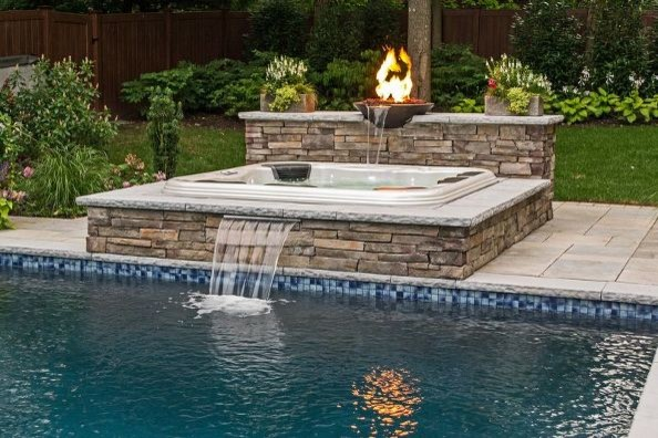 Spillway Water Feature Swimming Pool