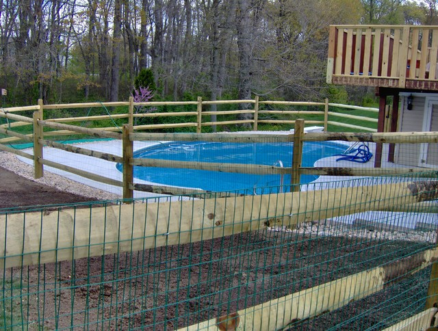 Split Rail Fence Traditional Pool Wilmington By