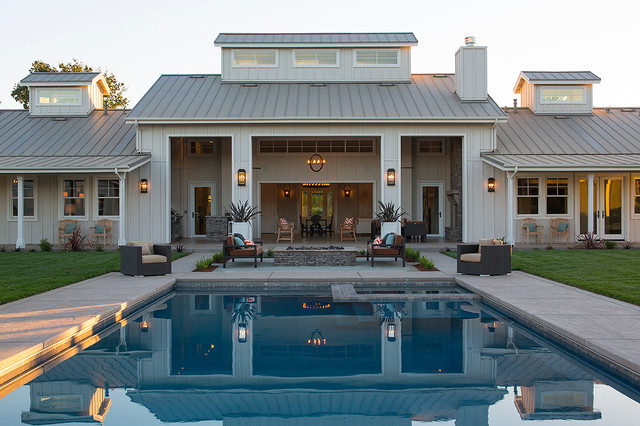 Farmhouse Pool St Helena Residence Farmhouse Pool San Francisco By On Farmhouse Home Design
