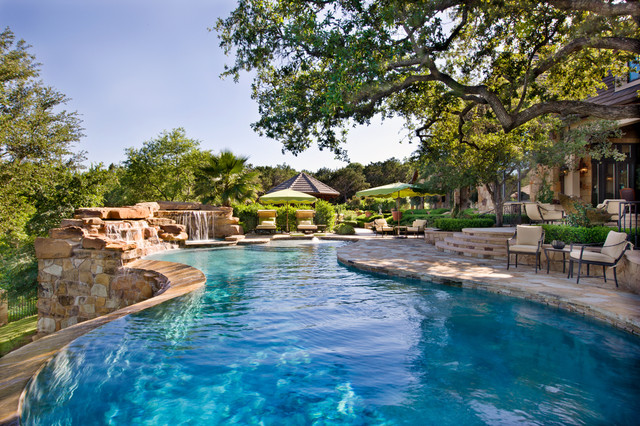 Pool Design Austin like the pebble tech color contemporary pool austin by root design companycom outdoor spaces pinterest pool houses house plans and modern Stand Alone Home Traditional Pool