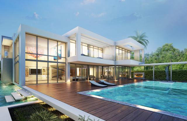 Star island modern pool other metro by kobi karp for Pool design miami