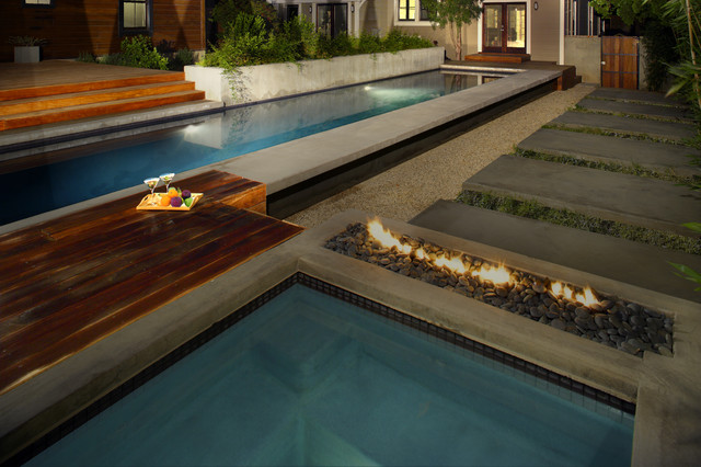contemporary pool by Tracy Stone AIA
