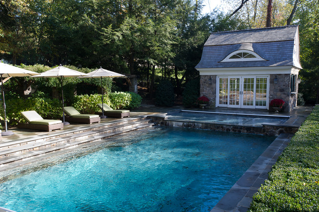 Steps Into The Pool Traditional Pool New York By