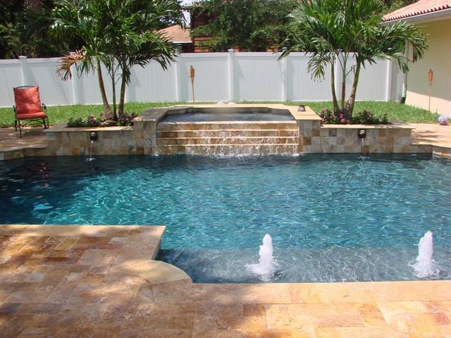Stevens backyard renovation contemporary pool miami for Pool kings design