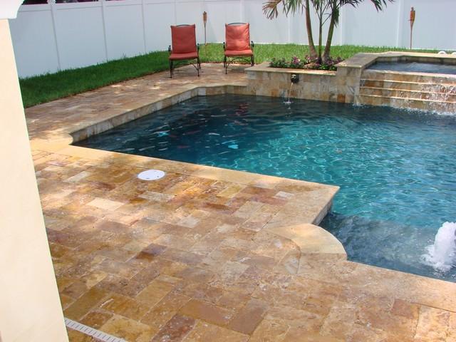 Stevens Backyard Renovation Contemporary Pool Miami