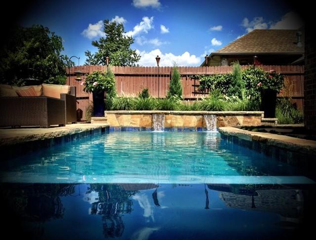 Stone Briar contemporary-pool