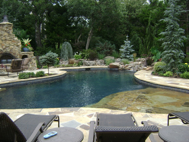 Stone mill project traditional pool oklahoma city for Pool design okc