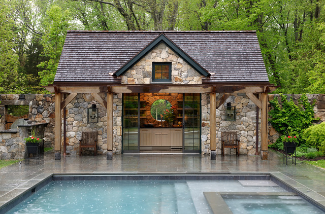 Stone Pool House, New Canaan, Connecticut