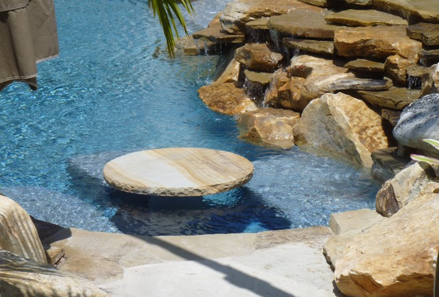 High Quality Stone Table In Swimming Pool By Matthew Giampietro Contemporary Pool