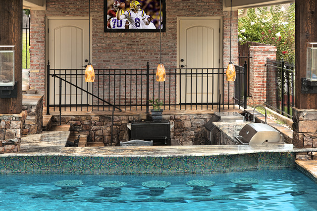 Stonewall natural for Pool design with swim up bar