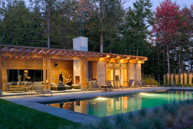 stowe vermont pool house moderne piscine burlington par patterson and smith. Black Bedroom Furniture Sets. Home Design Ideas