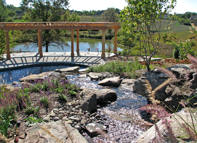Stream side residence traditional pool dc metro by for Plusen landscape architects