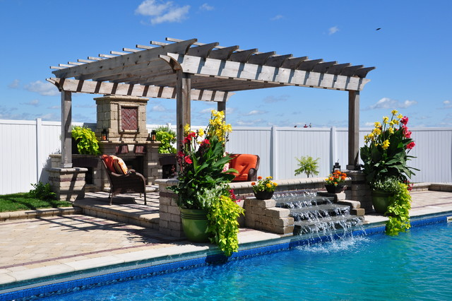 Streator - Outdoor Living Space with Inground Pool ... on Tropical Outdoor Living id=37168