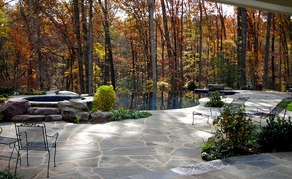 Inspiration for a timeless infinity pool remodel in DC Metro