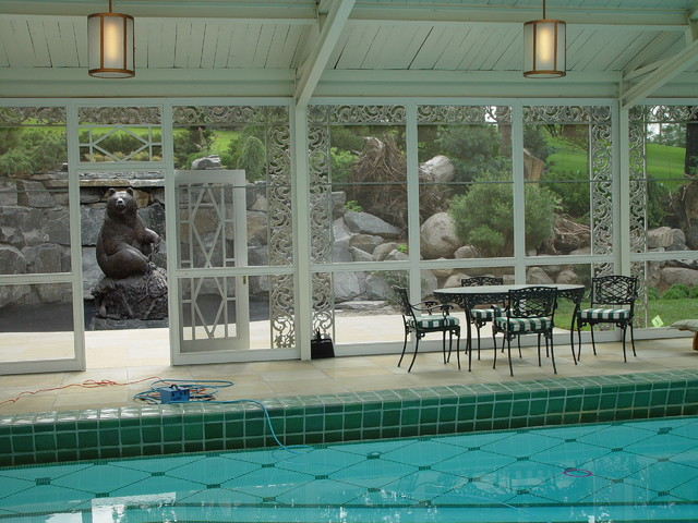 Stumpery Project traditional-pool