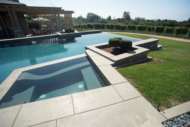 Stunning Concrete Pool Deck Patio Driveway Interior