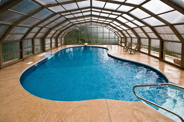 Stunning Enclosed Nj Backyard Swimming Pool