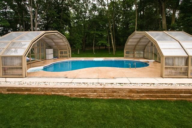 Stunning Enclosed NJ Backyard Swimming Pool - Contemporary ...
