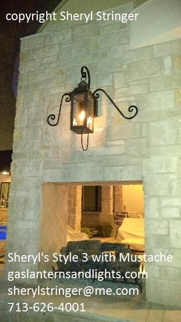 Style 3 Lanterns on Steel Wall Brackets