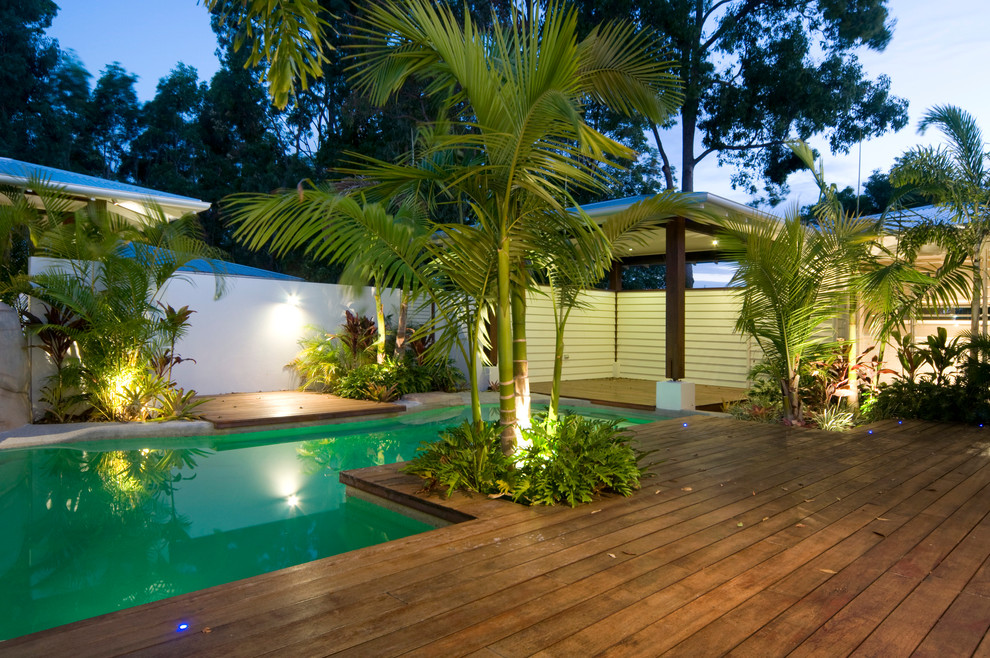 Summit House Tropical Pool Brisbane By Skale Building Design