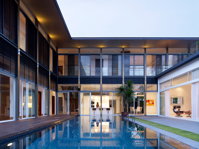 Sunset House Modern Pool Singapore By Topos Design