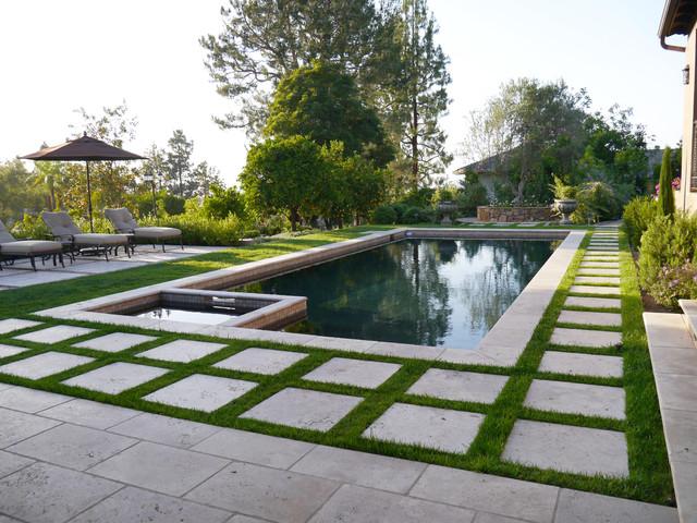sunwashed mediterranean garden mediterranean pool. Black Bedroom Furniture Sets. Home Design Ideas