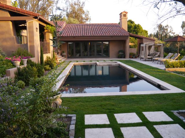 Outdoor Designs sunwashed mediterranean garden - mediterranean - pool - san diego