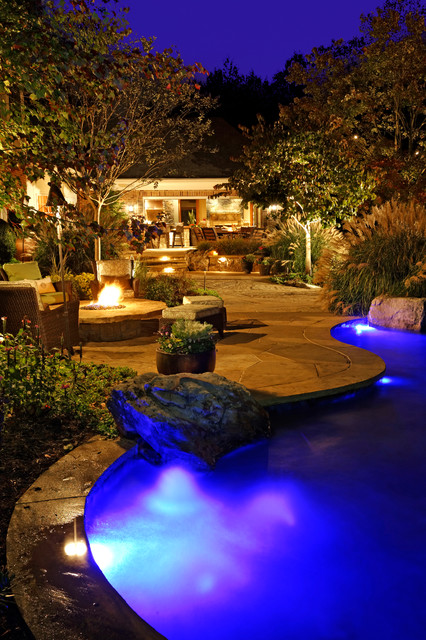 Surrounds Landscaping Midnight Blue Pebble Tec