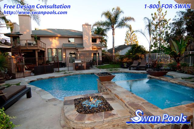Swan pool design gallery pool orange county by swan for Pool design orange county ca