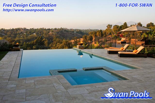 Swan Pools Custom Design - Hillside Resort - Modern - Pool ...